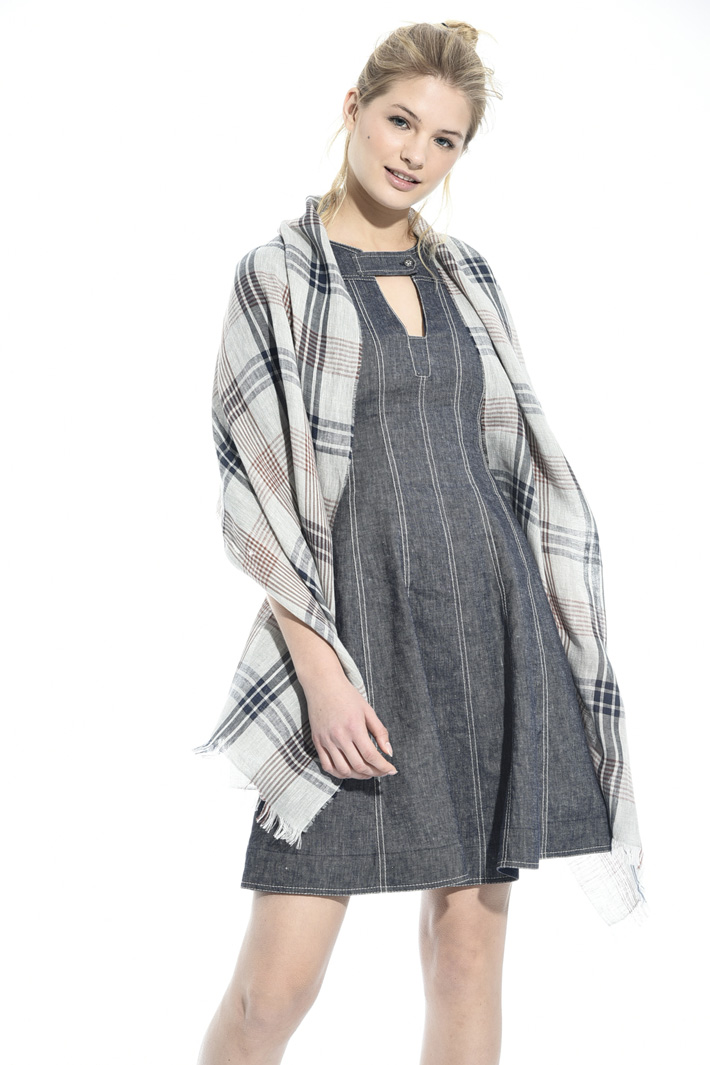 Linen canvas scarf Intrend