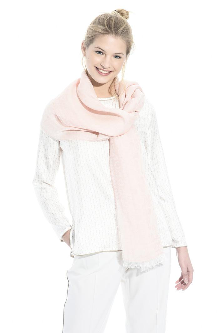 Linen blend jacquard scarf Intrend