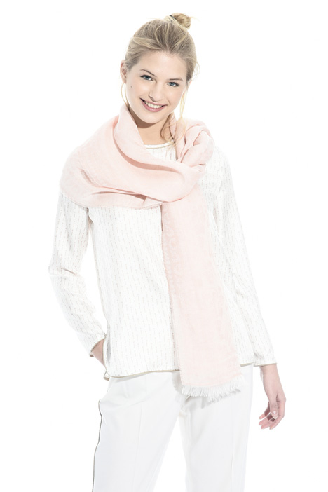 Linen blend jacquard scarf Intrend
