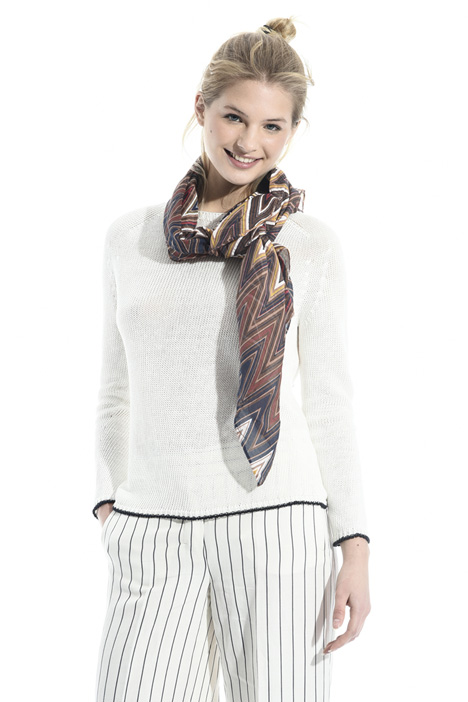 Cotton and silk scarf Diffusione Tessile