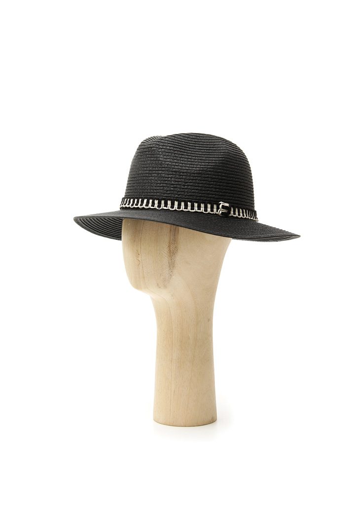 Contrasting detail fedora Intrend