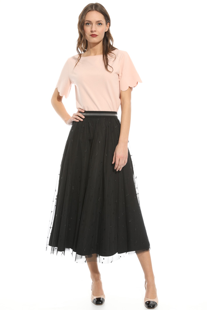 Embroidered tulle skirt Intrend