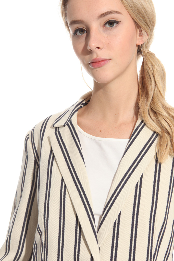 Blazer in cotone chevron Intrend