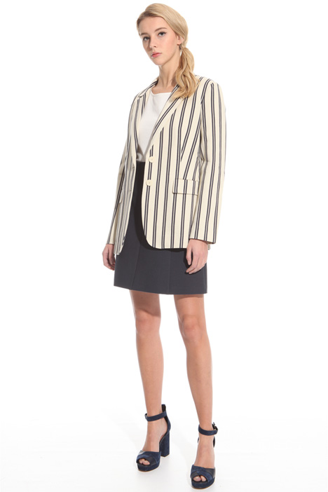 Cotton chevron blazer Intrend