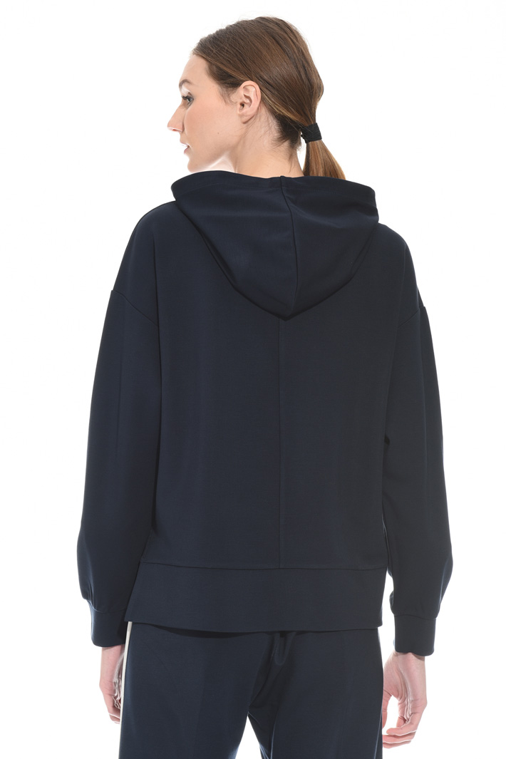 Hooded jersey sweatshirt Intrend