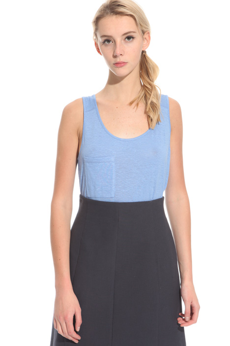 Linen blend tank top Intrend