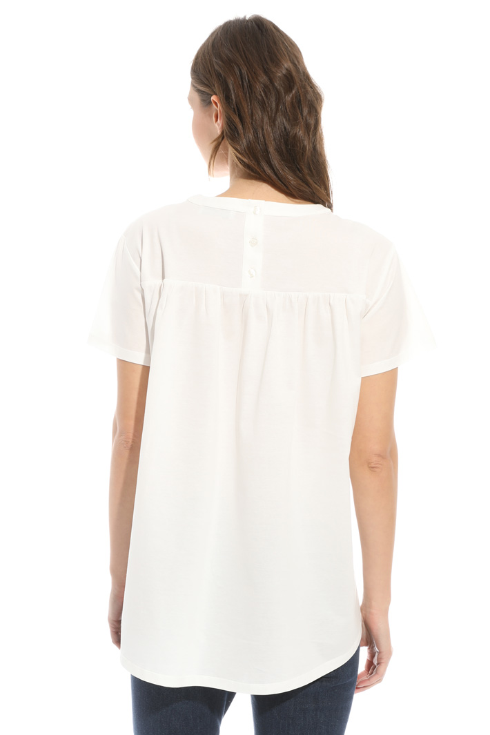 Cotton satin T-shirt Intrend