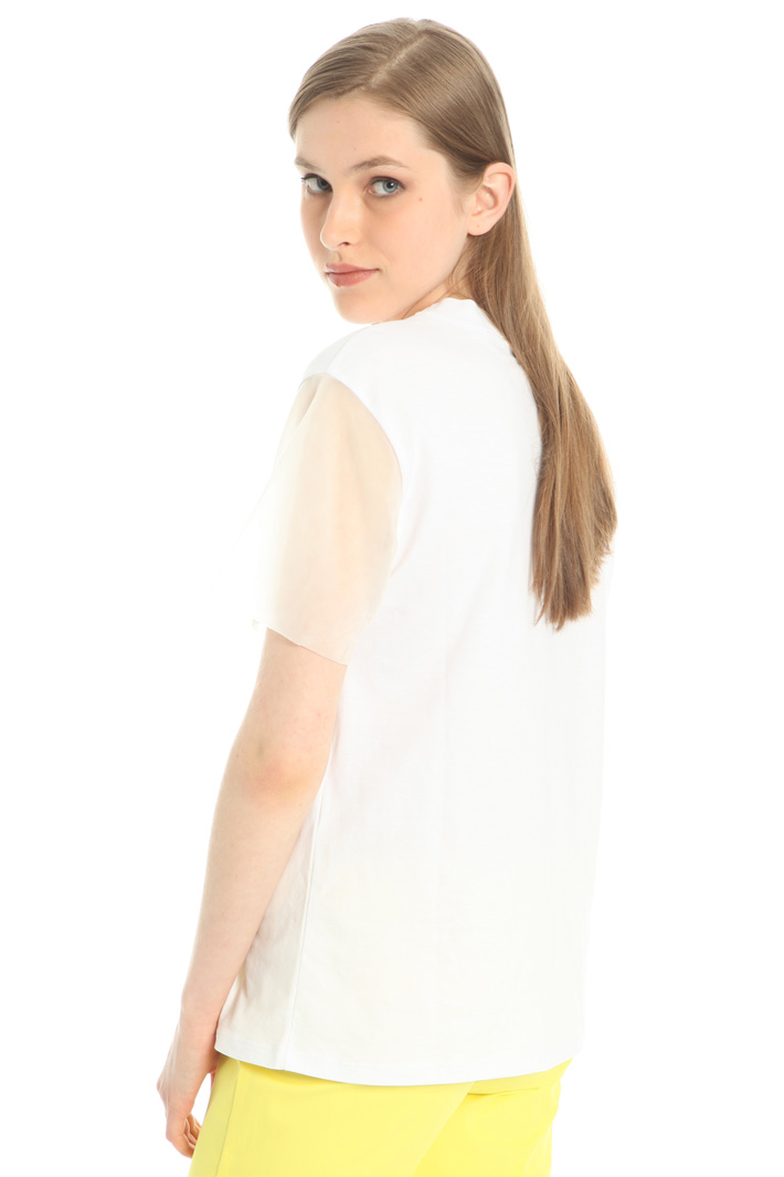 Organza detail T-shirt Intrend