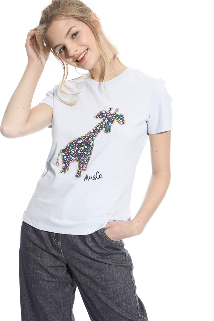 T-shirt with appliqués  Intrend