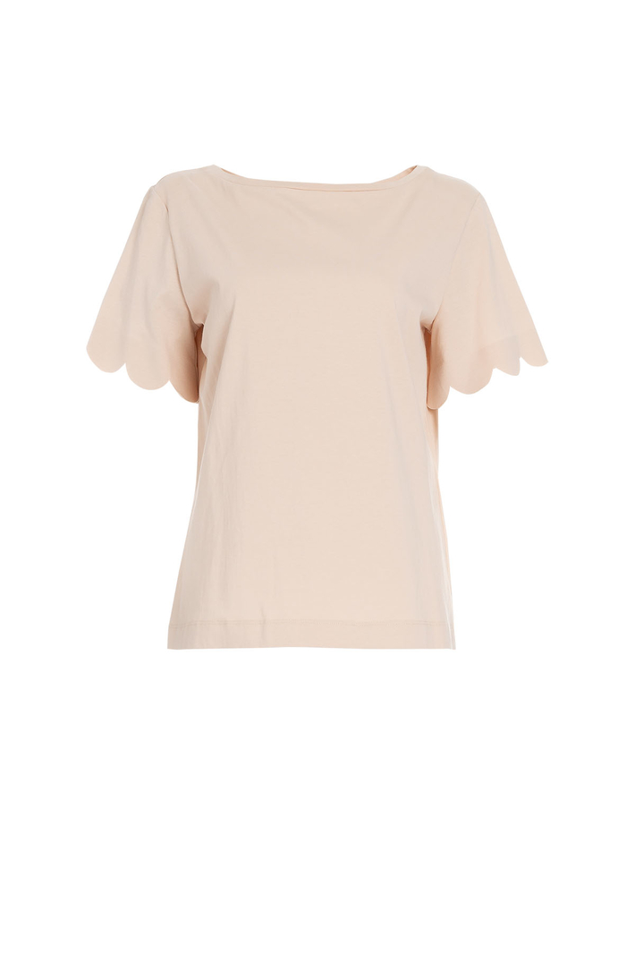 Scalloped hem T-shirt Intrend