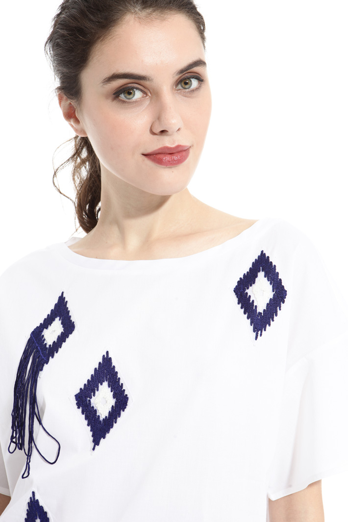 Fringe boxy top Intrend