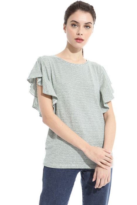 T-shirt in lino e cotone Intrend