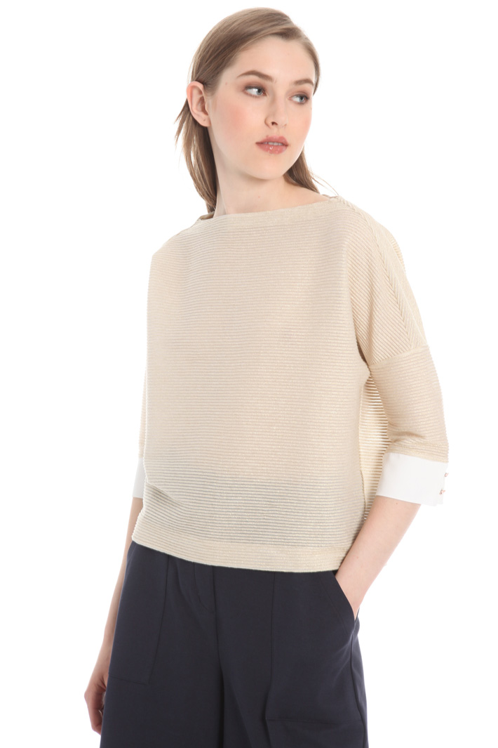 Crepe cuff sweater Intrend