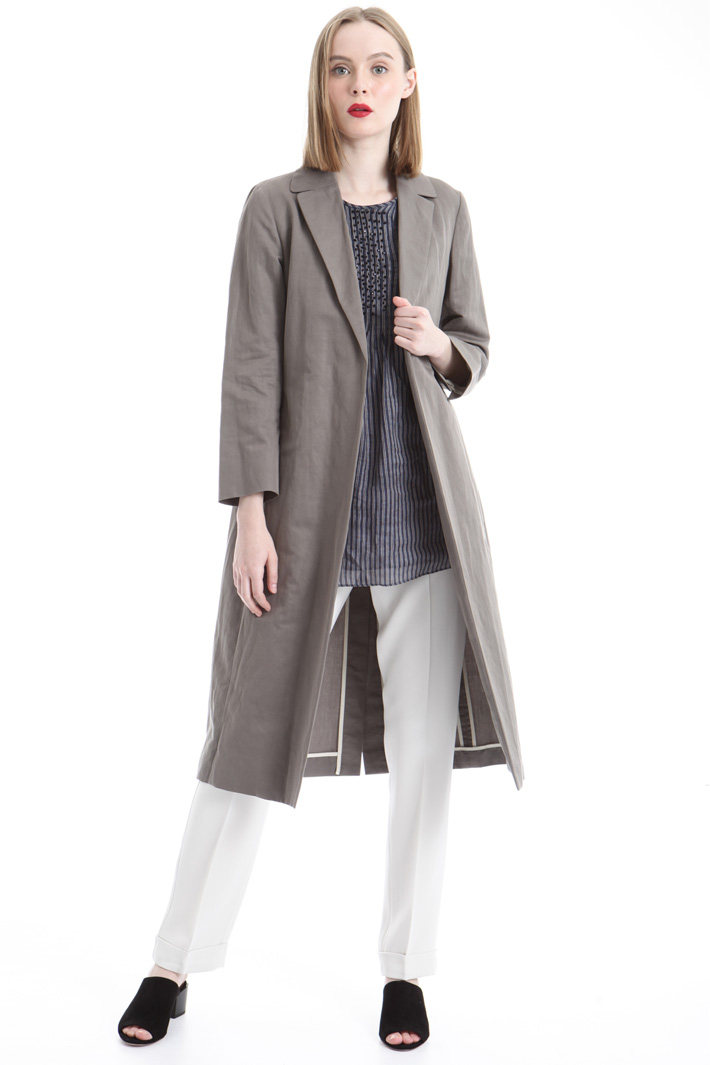Back slit topcoat Intrend