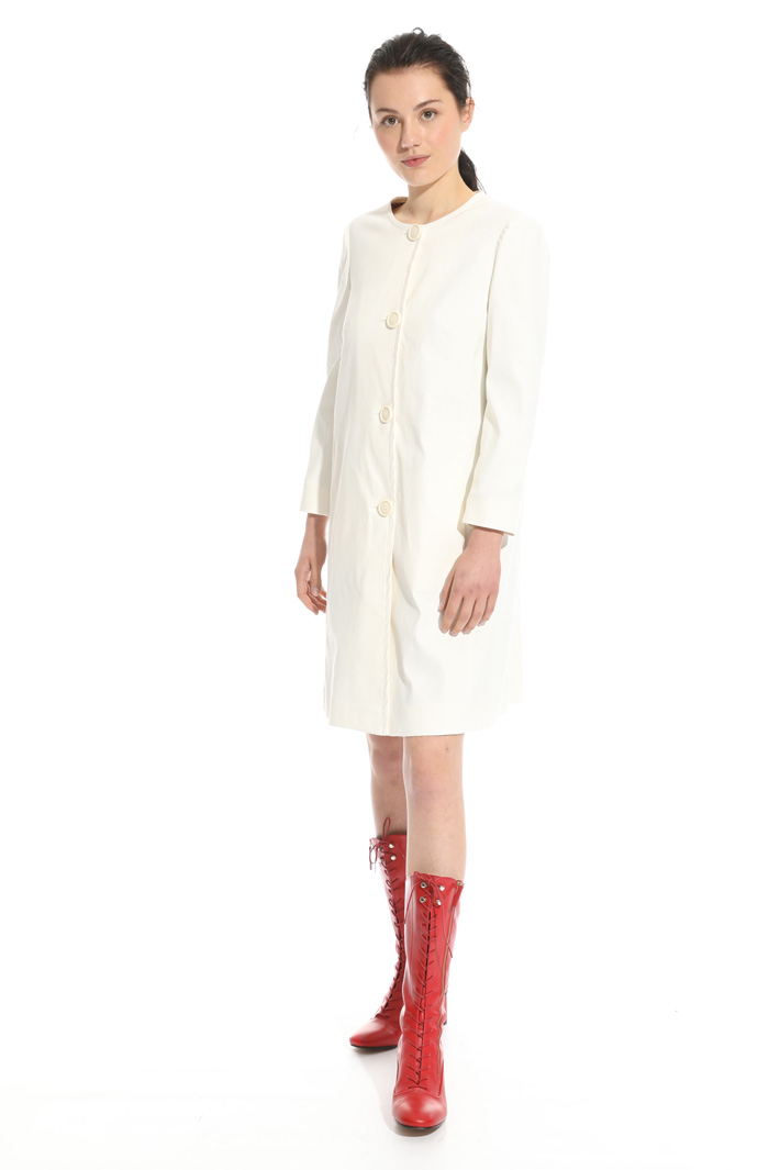 Linen and cotton topcoat Intrend