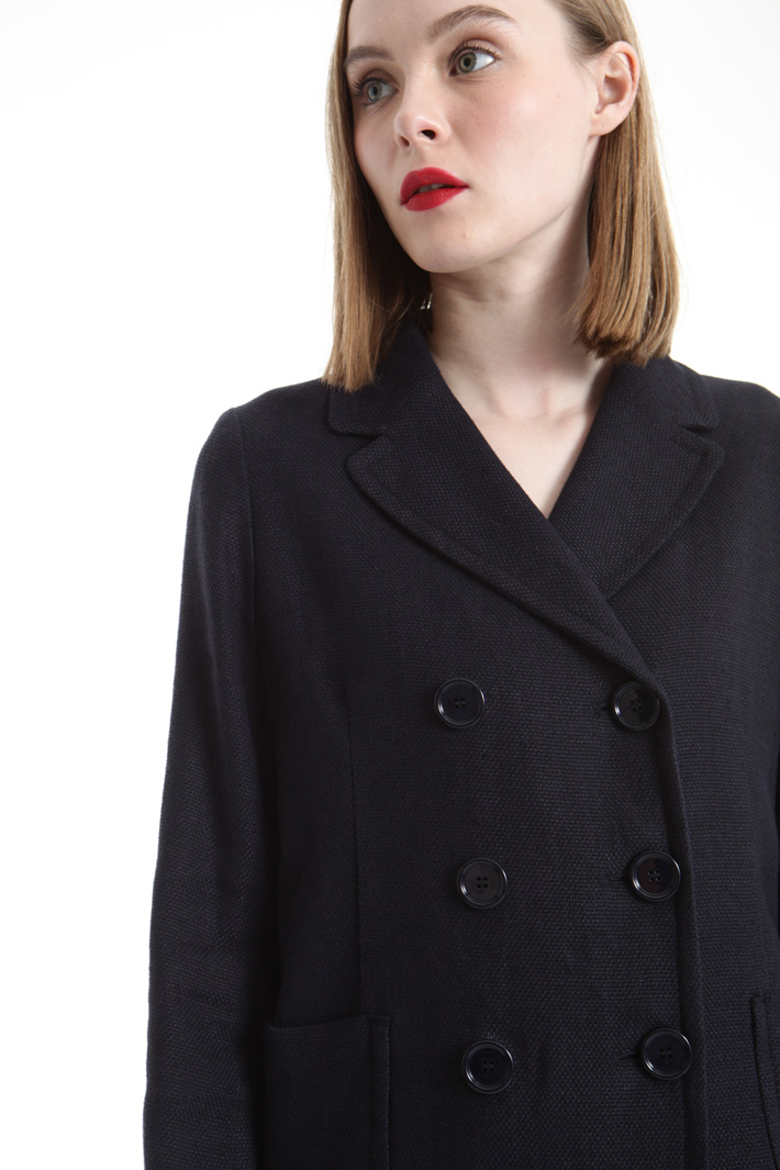 Double-breasted linen blazer Intrend