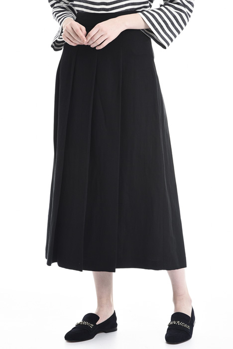 Wide ramié and cotton skirt Intrend