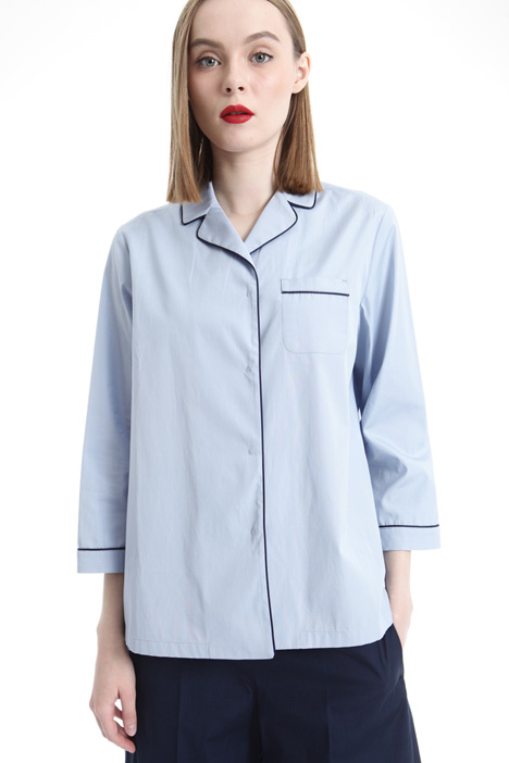 Contrasting trim shirt Intrend