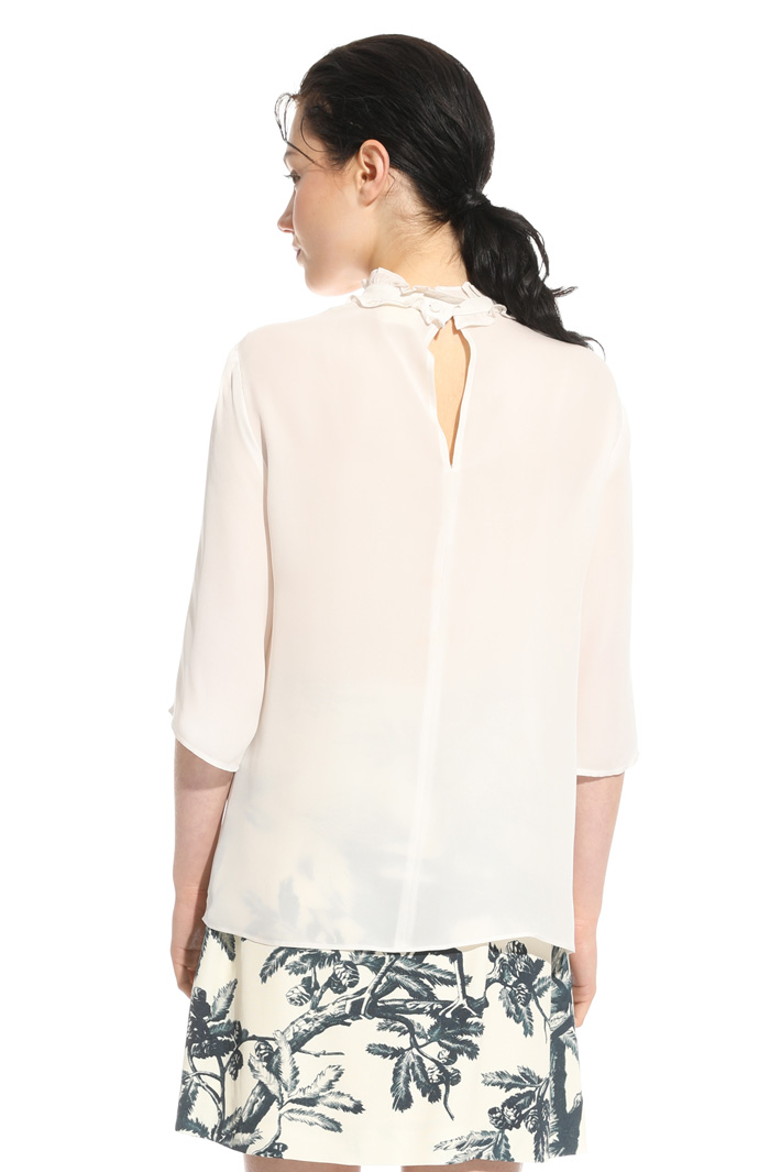 Blusa in georgette di seta Intrend