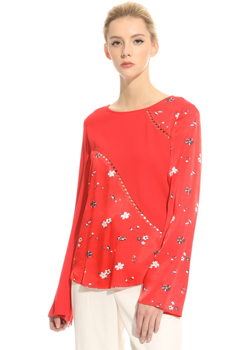 Perforated marocain blouse Intrend