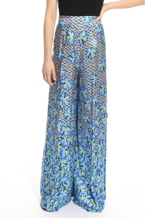Printed palazzo trousers Diffusione Tessile