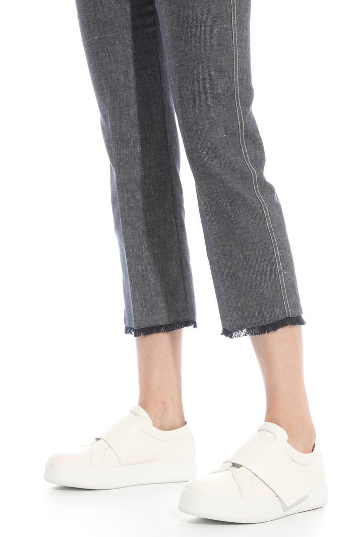 Pantaloni flare effetto denim Intrend