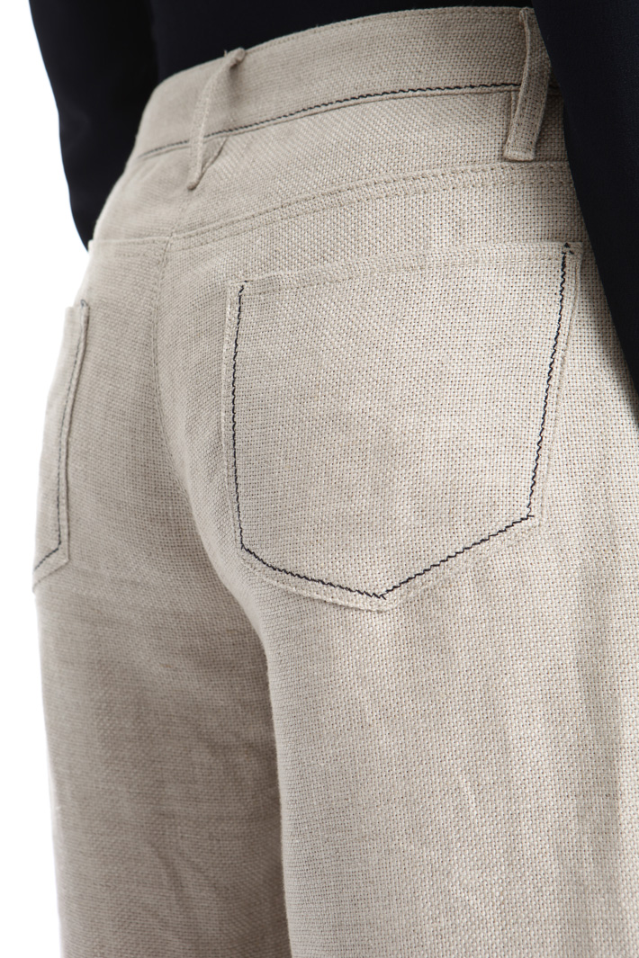 Pantalone in stuoia di lino Intrend