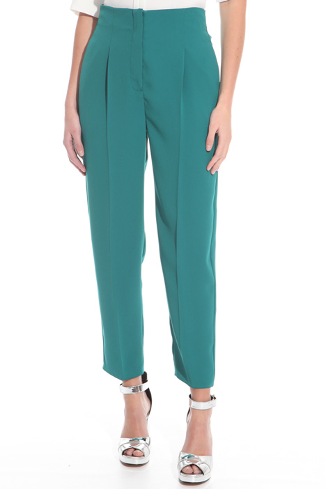 High-waisted cady trousers Diffusione Tessile