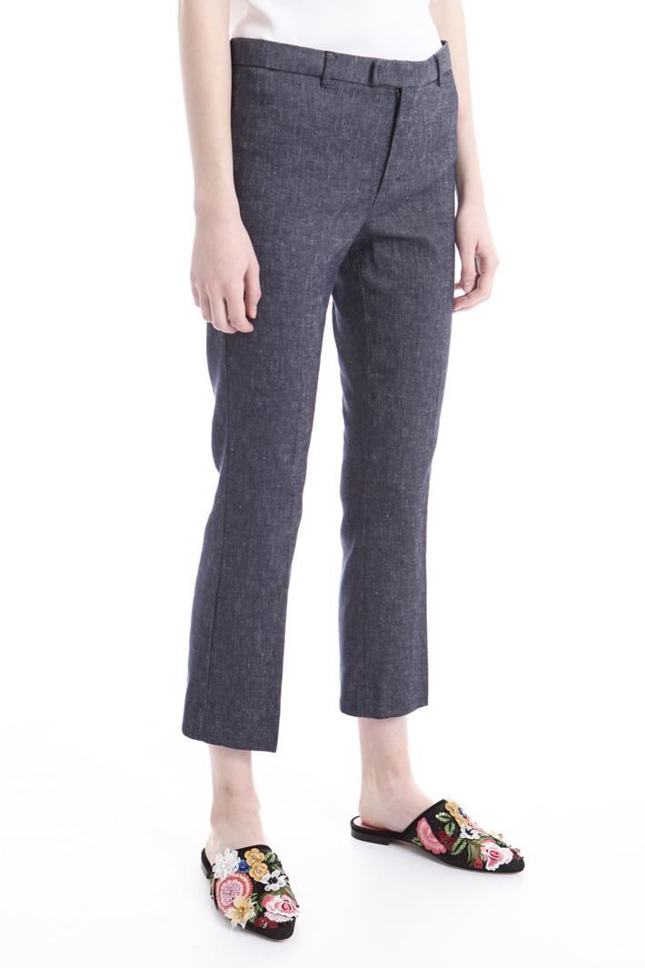 Pantalone effetto denim Intrend