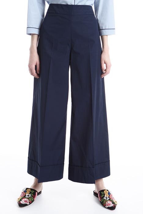 Pantaloni a palazzo in cotone Intrend