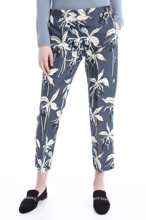 Printed interwoven trousers Diffusione Tessile