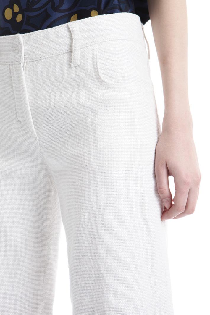 Pantalone in lino con frange Intrend