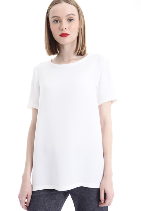 T-shirt in georgette di seta Intrend
