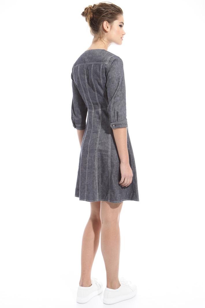 Denim-effect dress Intrend