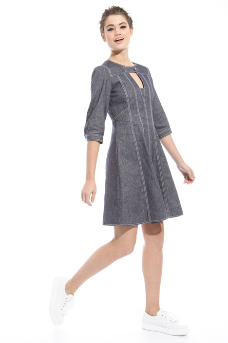 Denim-effect dress Diffusione Tessile