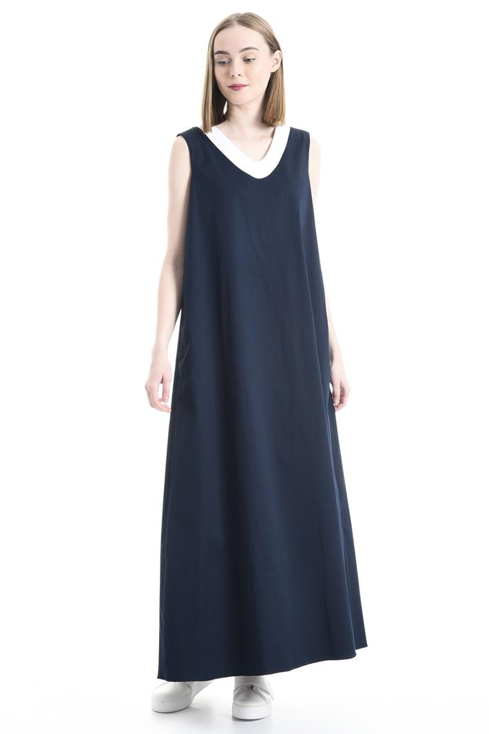 Wide gabardine dress Intrend