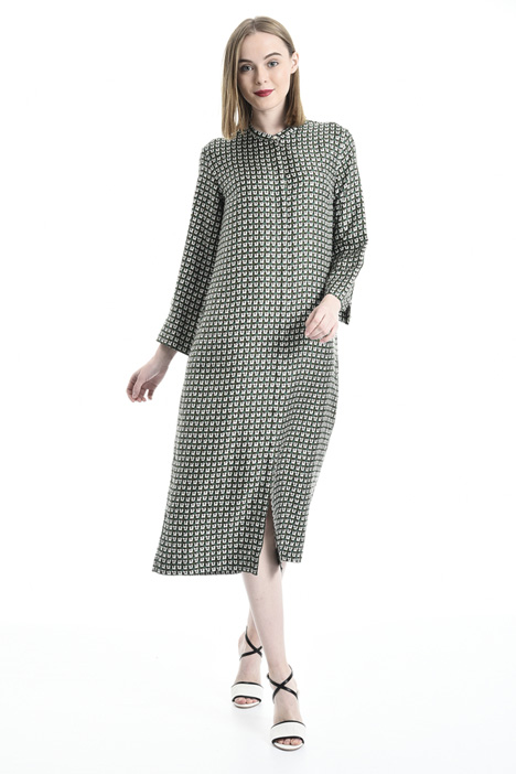 Silk twill chemisier dress Intrend