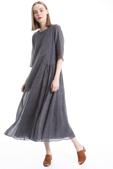 Striped ramié canvas dress Intrend