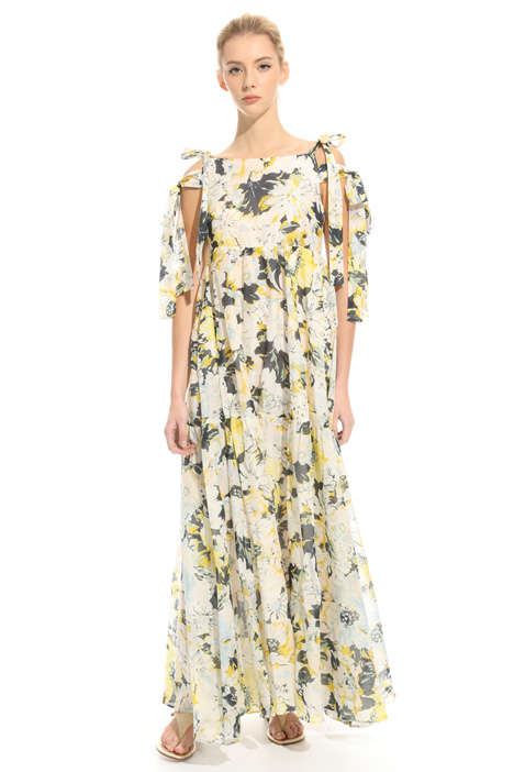Maxi dress in voilé Diffusione Tessile