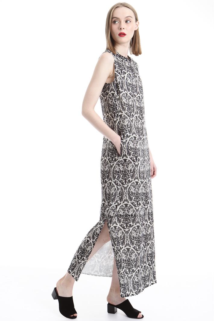 Printed ramié dress Intrend