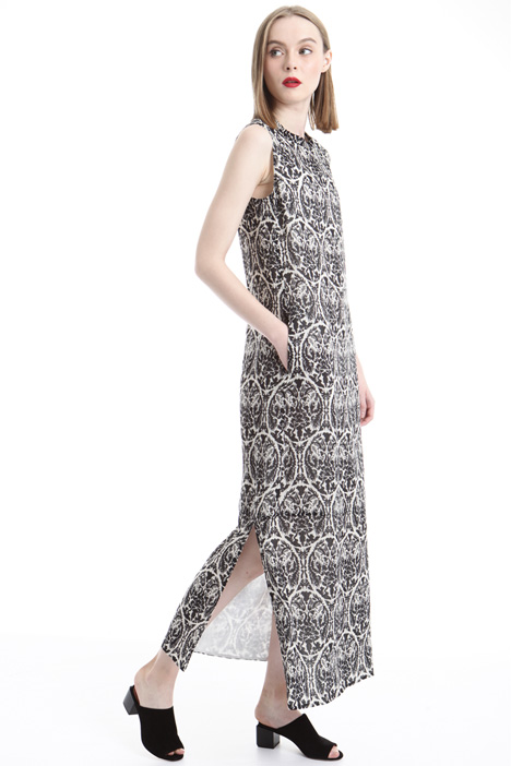 Printed ramié dress Intrend
