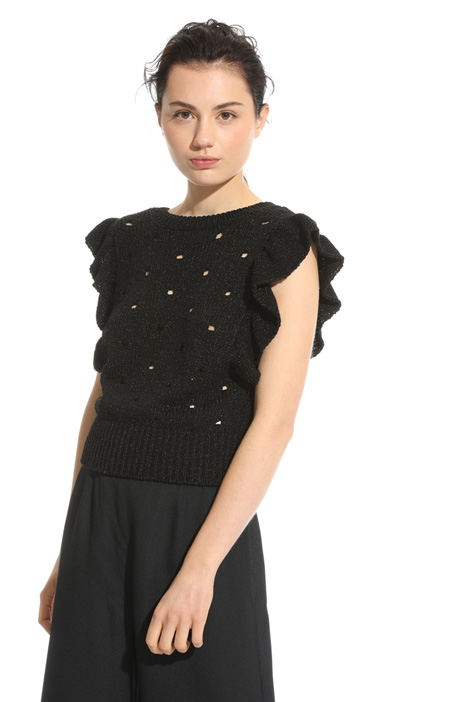 Lamé knit top  Intrend