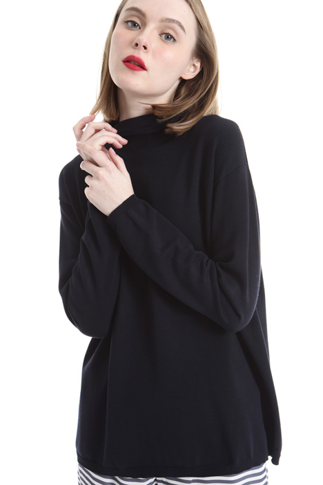 Viscose knit turtleneck Intrend