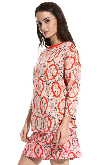 Jacquard viscose sweater Intrend