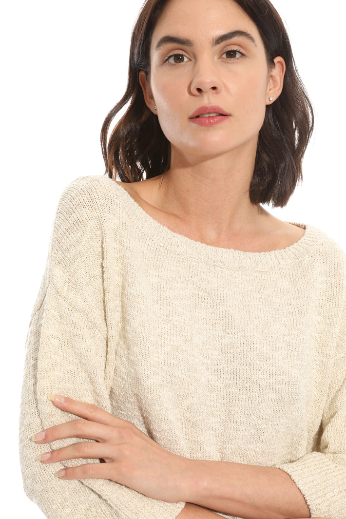 Mouliné yarn sweater Intrend