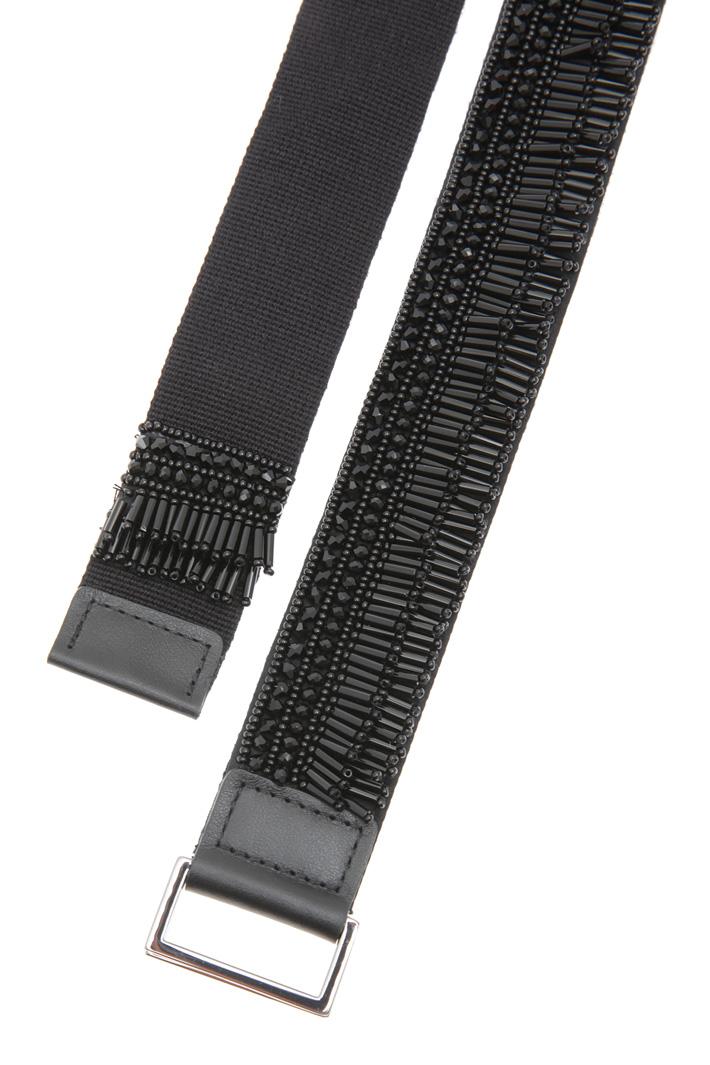Cintura in tessuto con perline Intrend