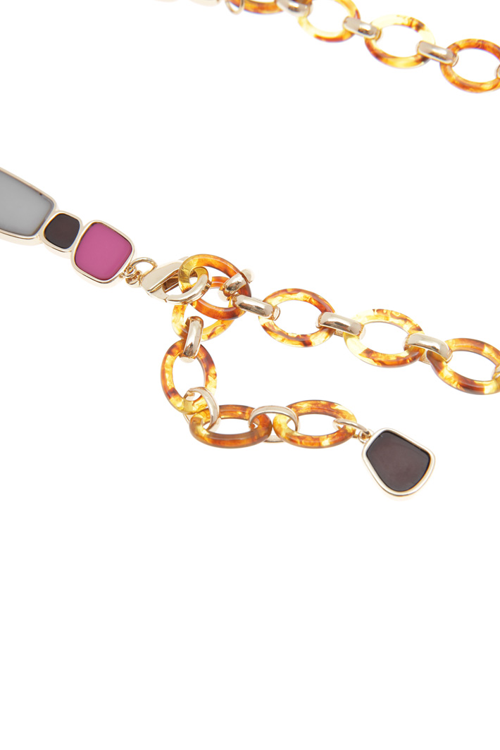 Metal and resin belt Intrend