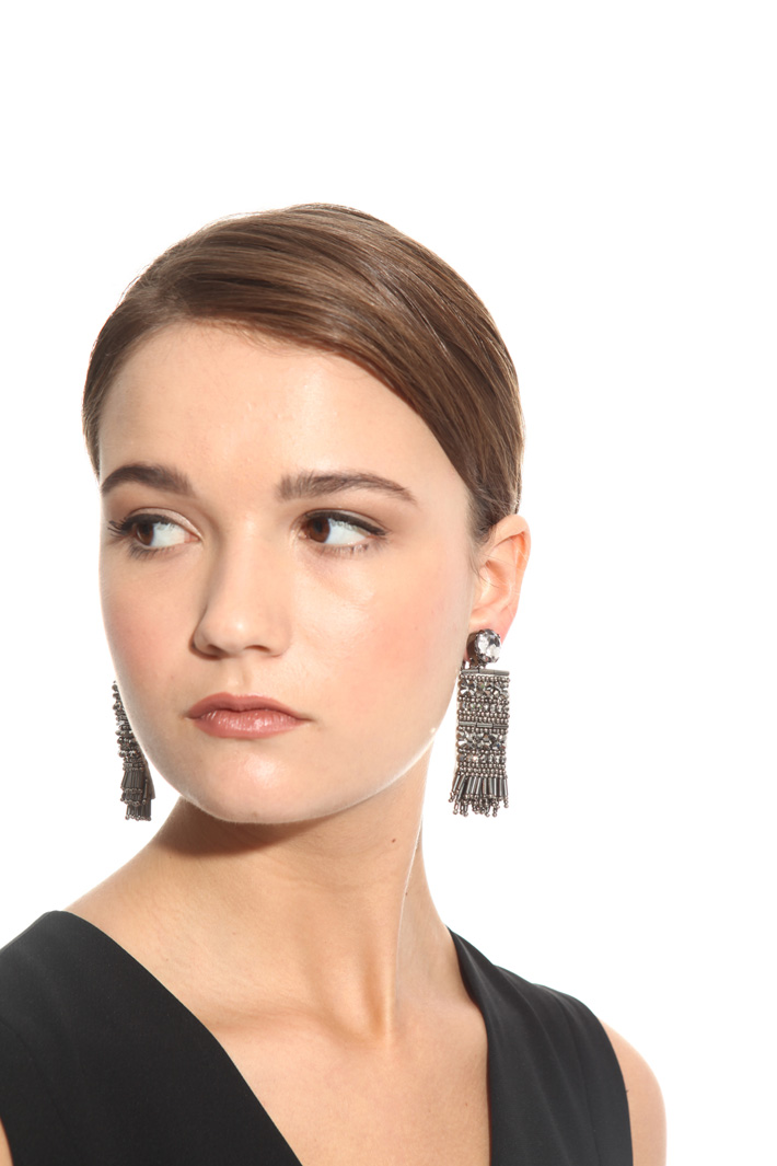 Embroidered earrings Intrend