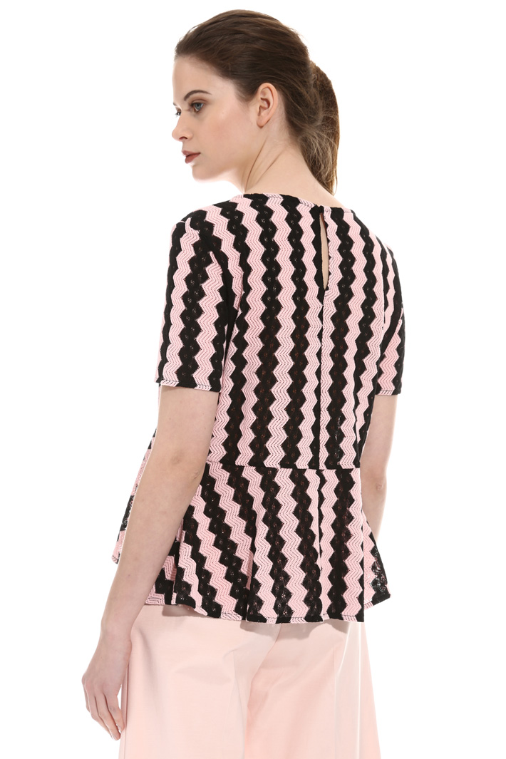 Blusa in jersey effetto pizzo Intrend