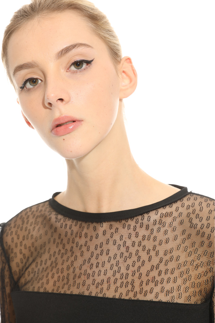Stitch jersey blouse Intrend